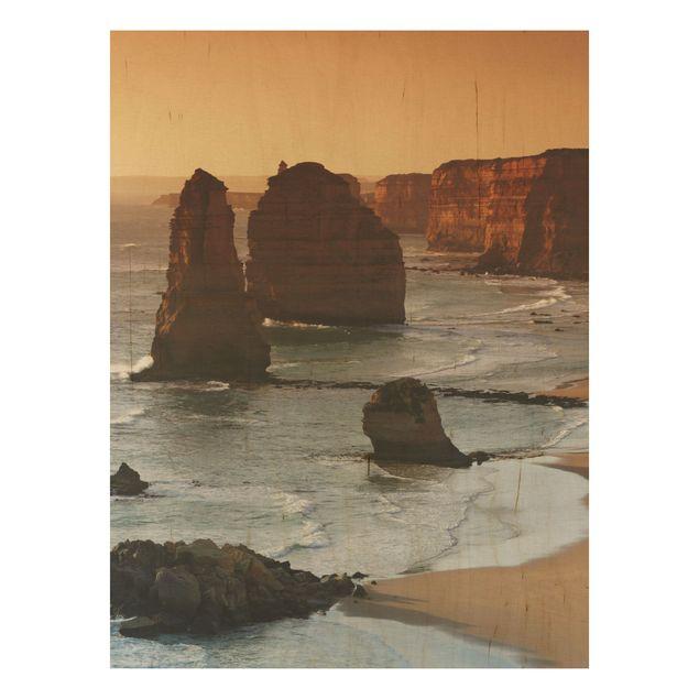 Holzbild - Die zwölf Apostel von Australien - Hoch 3:4