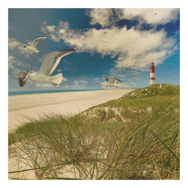 Holzbild Meer - Dune Breeze - Quadrat 1:1
