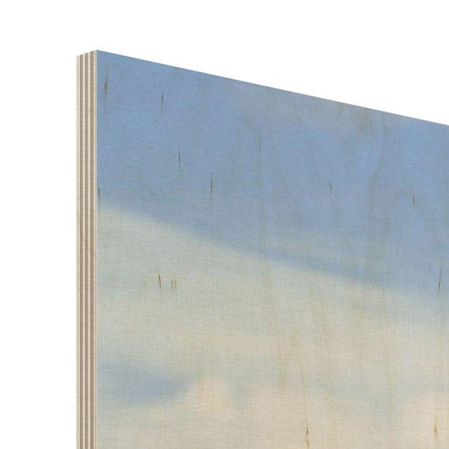 Wandbild Holz - Garten Eden - Panorama Quer
