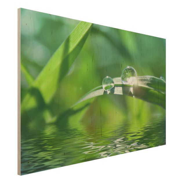 Holzbild - Green Ambiance II - Quer 3:2