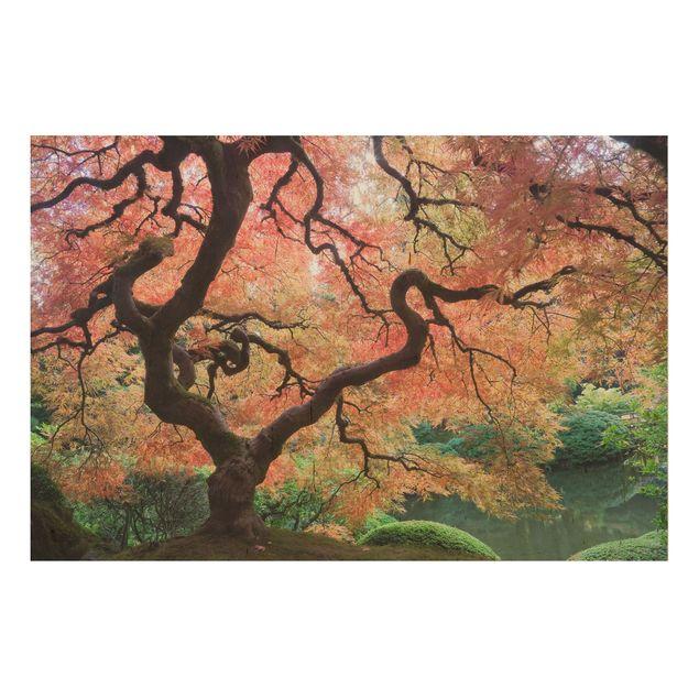 Wandbild Holz - Japanischer Garten - Quer 3:2