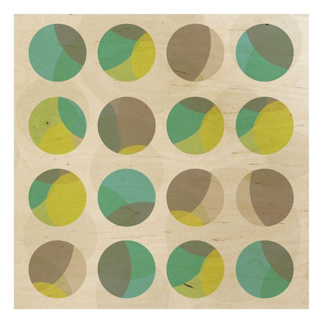 Holzbild - Kreisdesign - Quadrat 1:1