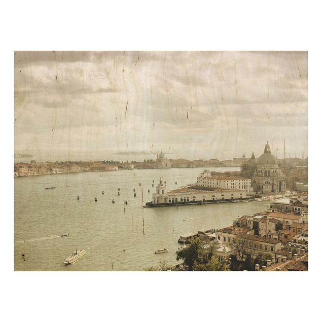 Holz Wandbild - Lagune von Venedig - Quer 4:3
