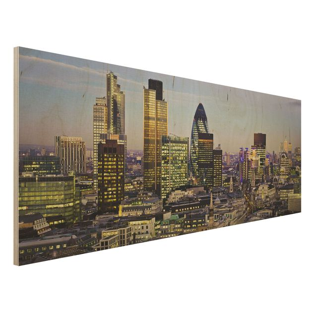 Holzbild - London City - Panorama Quer