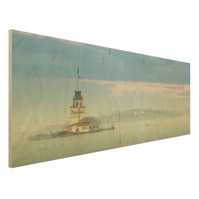 Wandbild Holz - Maidens Tower - Panorama Quer
