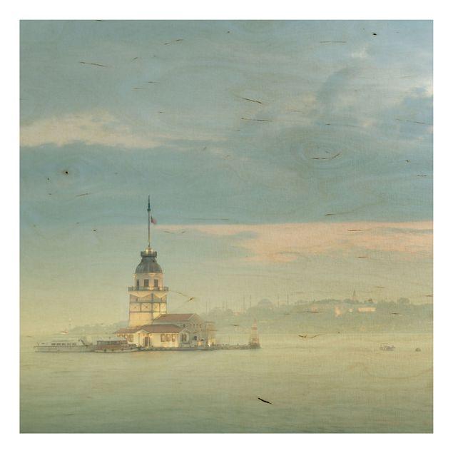 Wandbild Holz - Maidens Tower - Quadrat 1:1