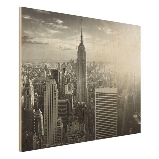 Bild aus Holz - Manhattan Skyline - Quer 4:3