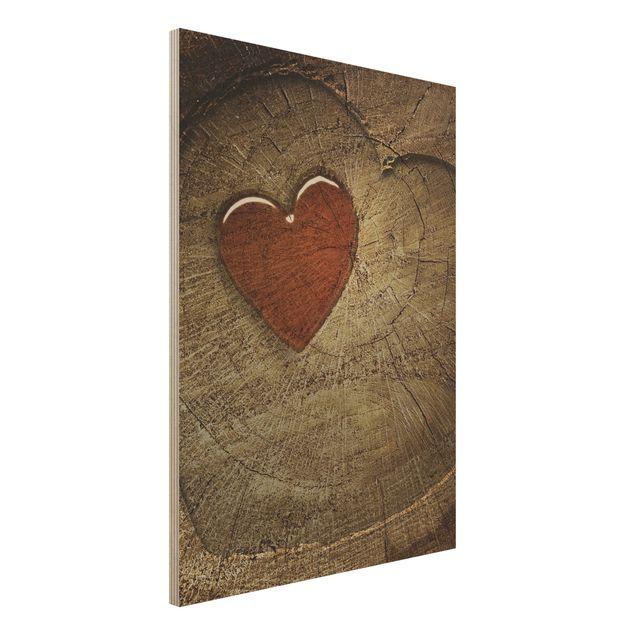 Holzbild - Natural Love - Hoch 3:4
