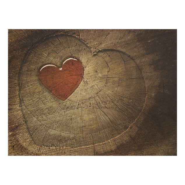 Holzbild - Natural Love - Quer 4:3