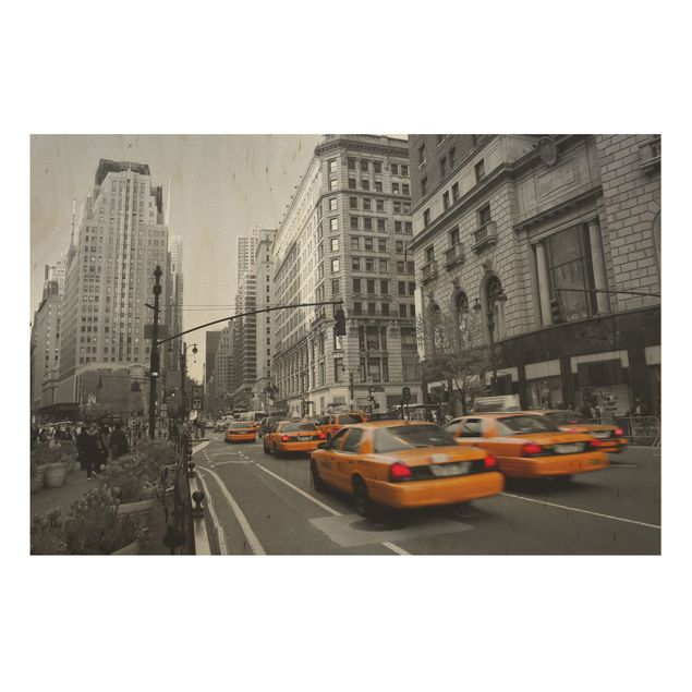 Holzbild - New York, New York! - Quer 3:2