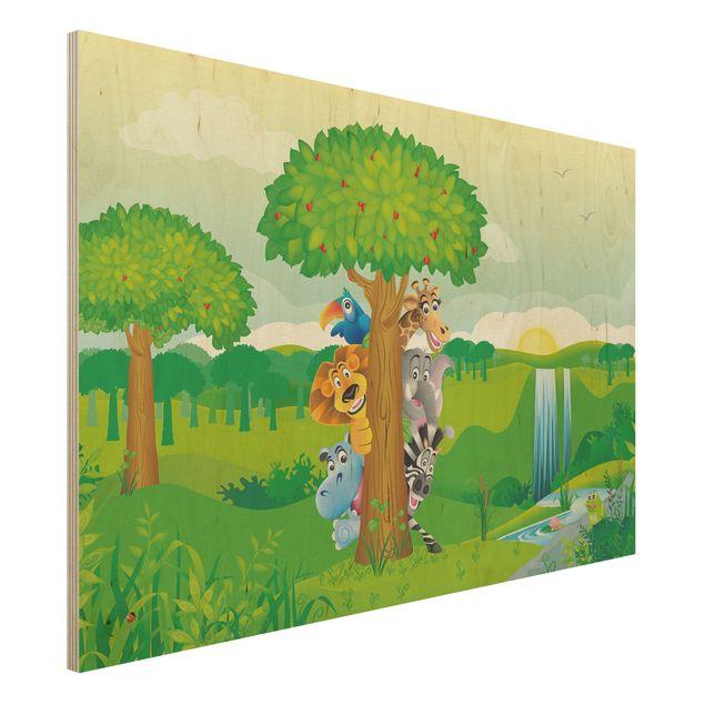 Holzbild - No.BF1 Dschungeltiere - Quer 3:2
