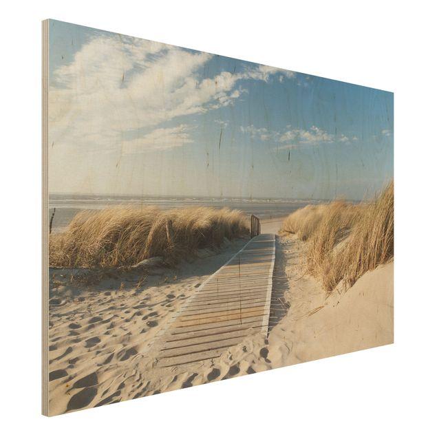 Holzbild - Ostsee Strand - Quer 3:2