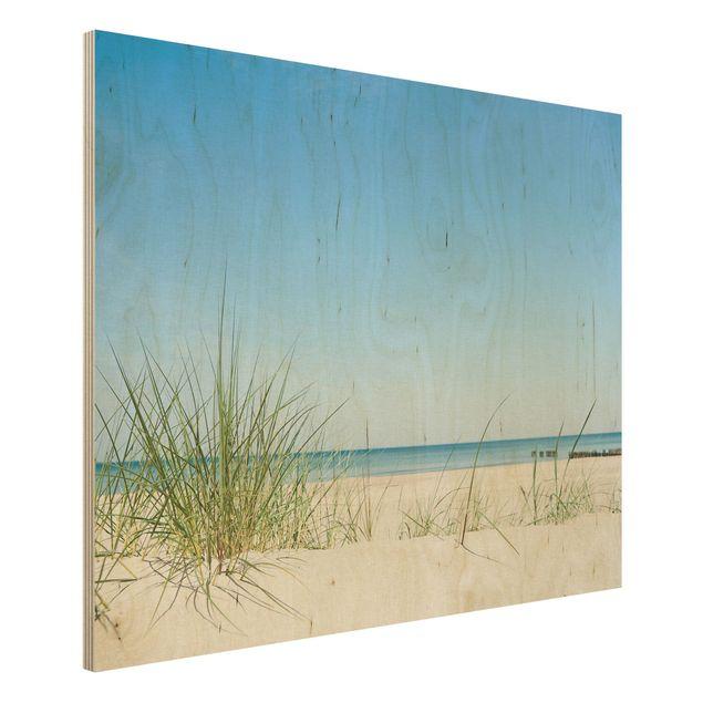 Holzbild Meer - Ostseeküste - Quer 4:3