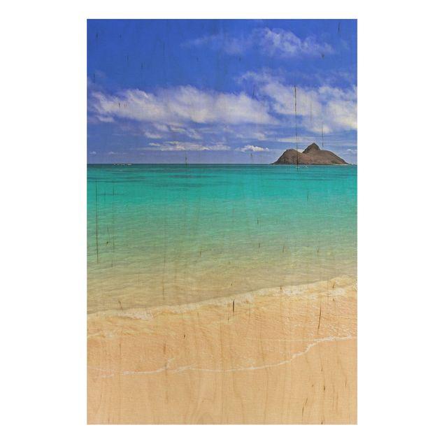 Holzbild Meer - Paradise Beach - Hoch 2:3