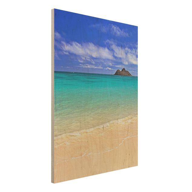 Holzbild Meer- Paradise Beach - Hoch 3:4