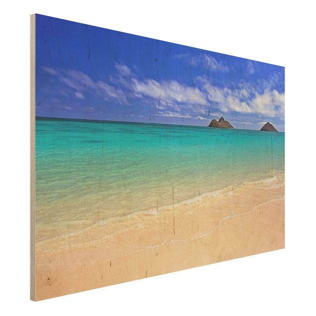 Holzbild Meer - Paradise Beach - Quer 3:2