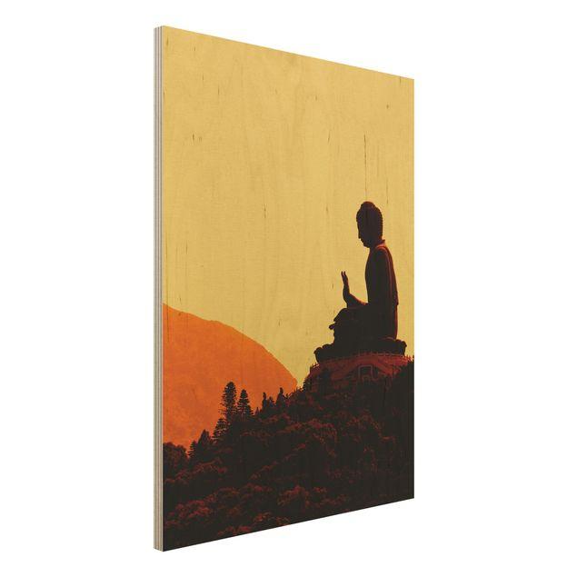Holzbild Buddha - Resting Buddha - Hoch 3:4