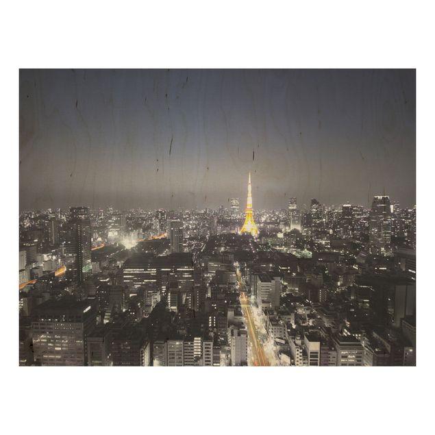 Holzbild - Tokio - Quer 4:3