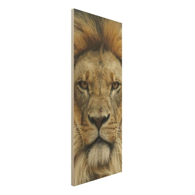 Holzbild - Wisdom of Lion - Panorama Hoch