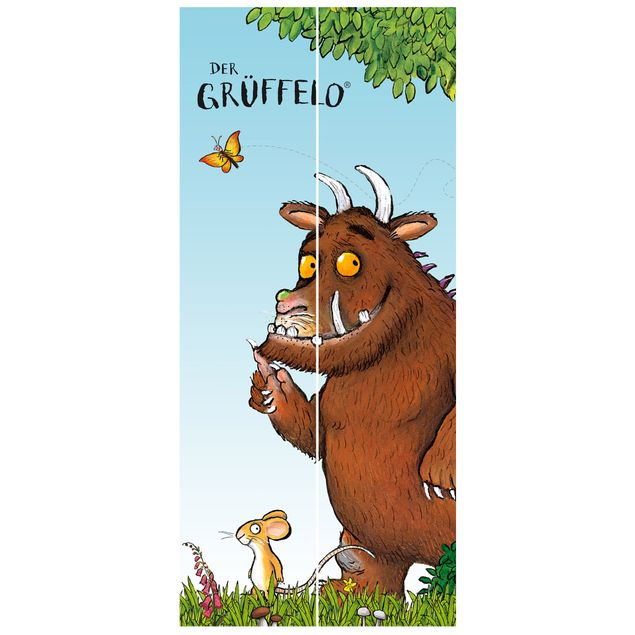 Türtapete - Grüffelo - Folgt der Maus