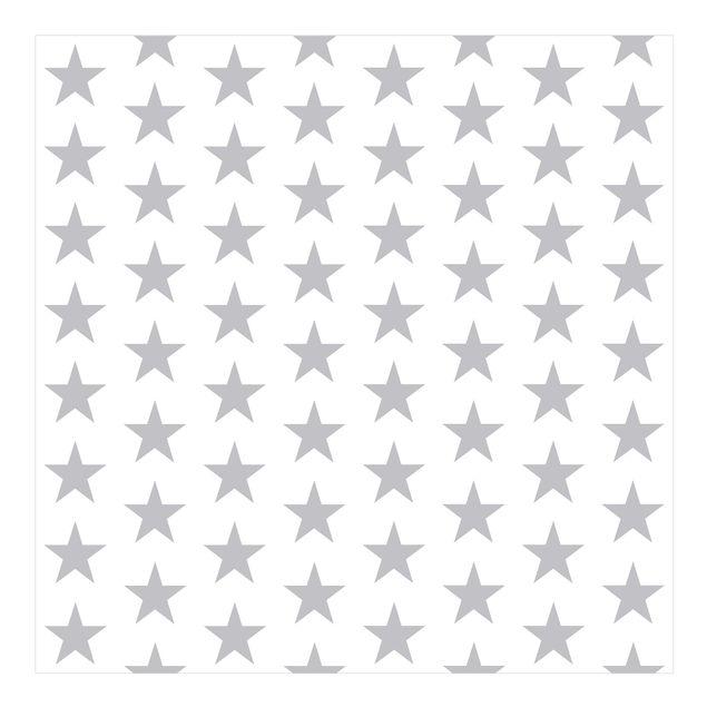 Fototapete Große graue Sterne auf Weiß