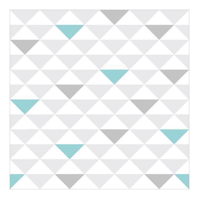 Fototapete Dreiecke Grau Weiß Türkis