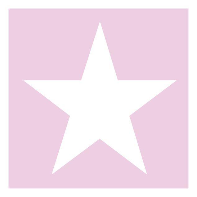 Beistelltisch - Große Weiße Sterne auf Rosa