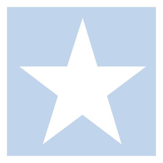 Beistelltisch - Große Weiße Sterne auf Blau