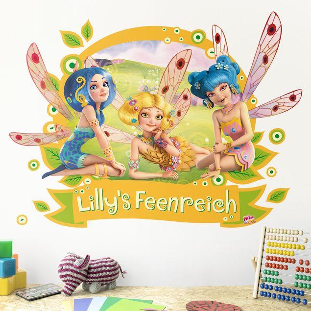 Kinderzimmer Wandtattoo mit Wunschtext - Mia and Me - Elfen mit Wunschname