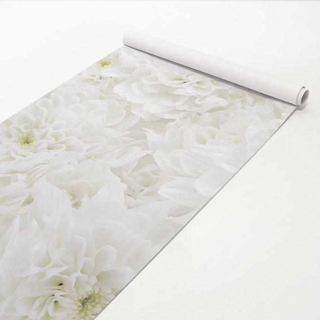 Klebefolie - Dahlien Blumenmeer weiß - Dekorfolie