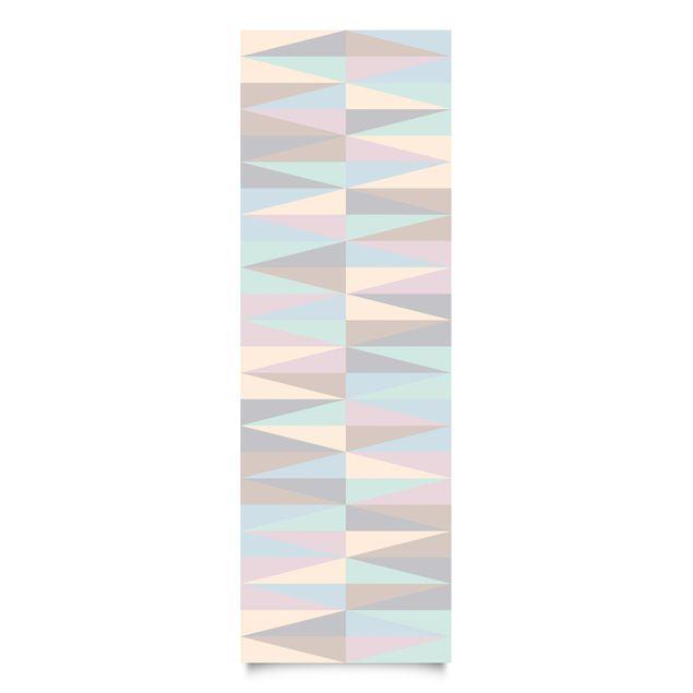 Klebefolie - Dreiecke in Pastellfarben - Selbstklebende Folie