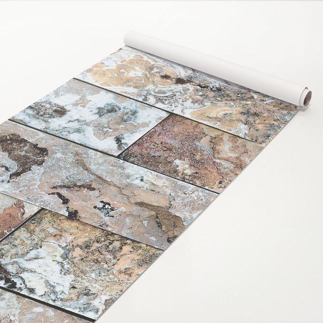 Klebefolie Marmoroptik - Naturmarmor Steinwand - Marmorfolie