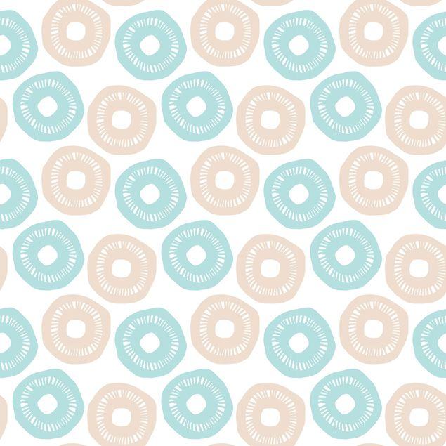 Klebefolie - Modernes Pastell Muster hellblau rose - Selbstklebende Folie