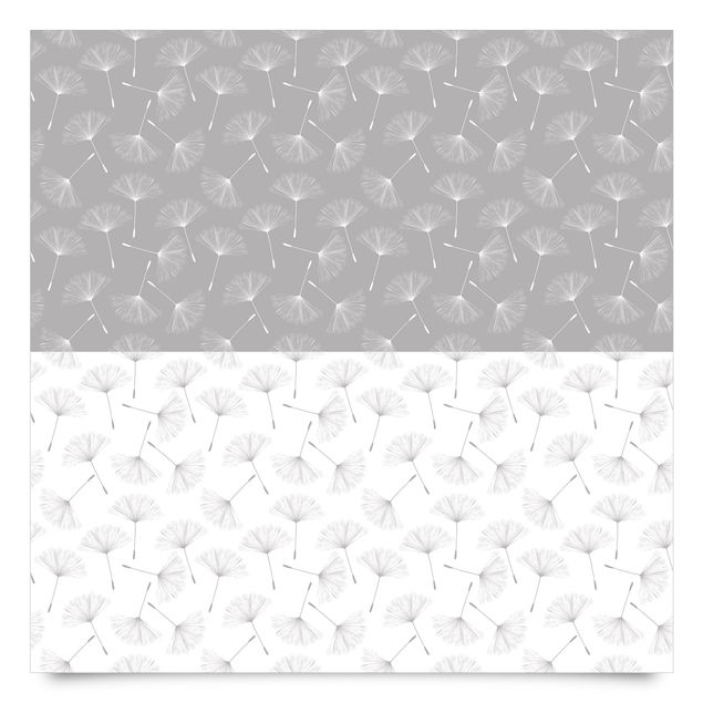 Klebefolie Pusteblume Musterset in Achat Grau und Polarweiss - Selbstklebefolie