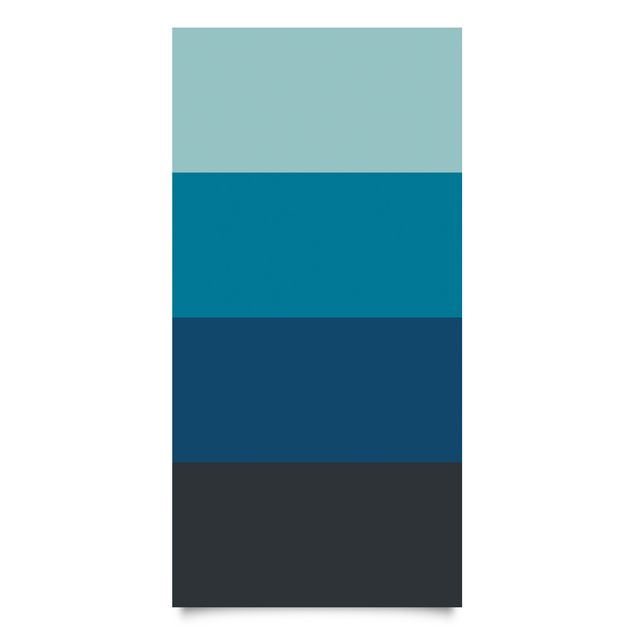 Klebefolie - Tiefe See 4 Farben Set - Pastelltürkis Petrol Preussisch Blau Mondgrau