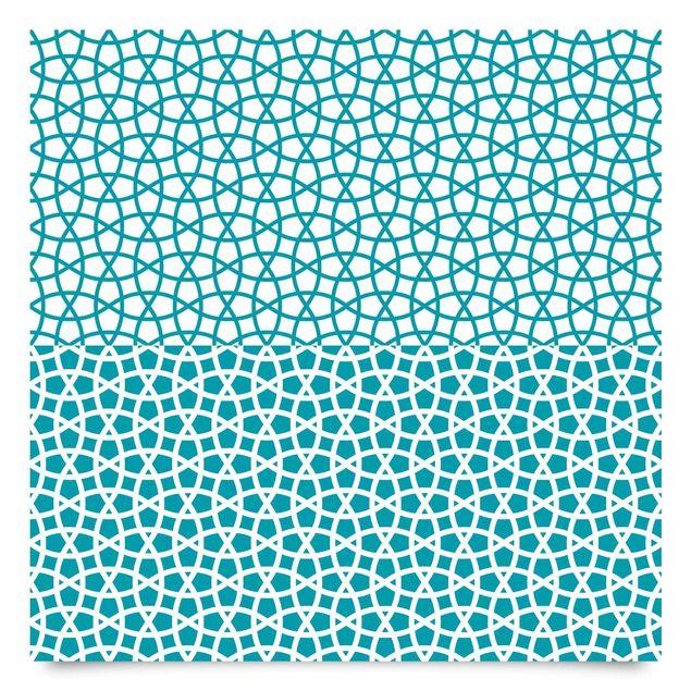 Klebefolie türkis Set - 2 marokkanische Mosaik Muster - Moroccan Chic Selbstklebefolie