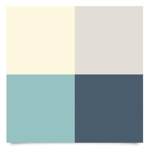 Klebefolie - Wohnfarben Set Lagune - Kaschmir Meersand Pastelltürkis Schieferblau