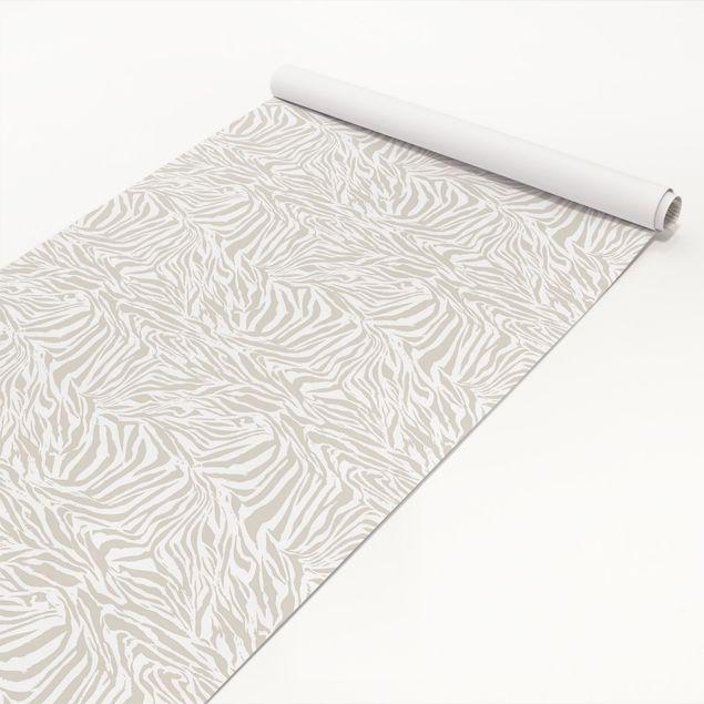 Klebefolie - Zebra Design hellgrau Streifenmuster - Selbstklebefolie