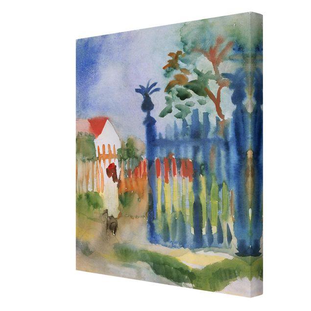 Leinwandbild - August Macke - Gartentor - Hoch 3:4