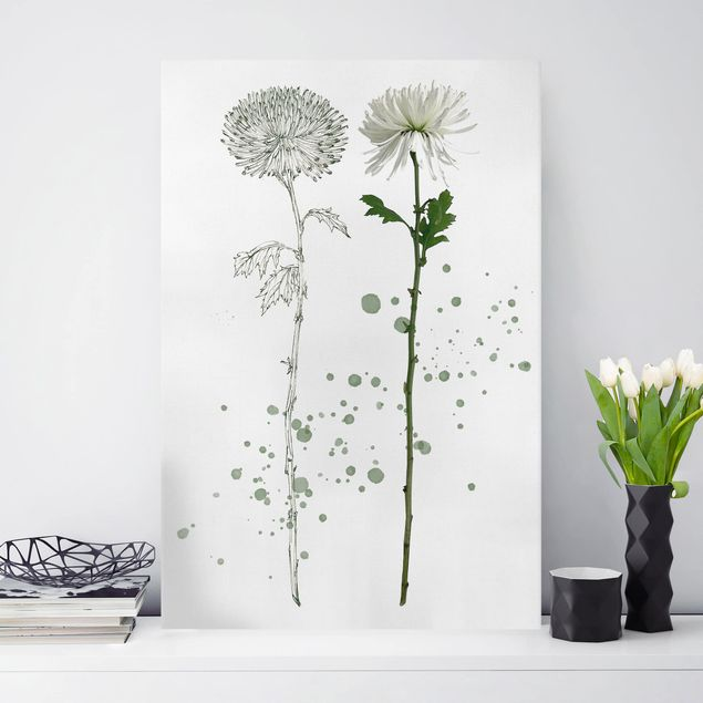 Leinwandbild - Botanisches Aquarell - Löwenzahn - Hochformat 3:2