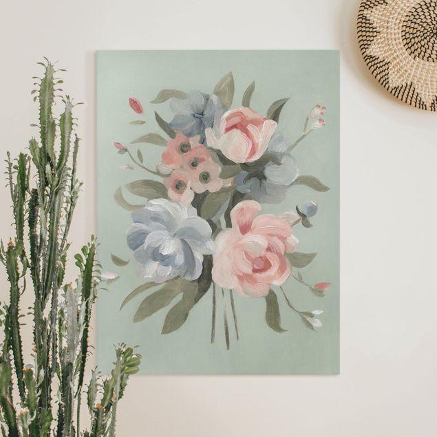 Leinwandbild - Bouquet in Pastell II - Hochformat 4:3