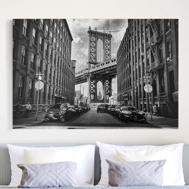 Leinwandbild - Manhattan Bridge in America - Quer 3:2