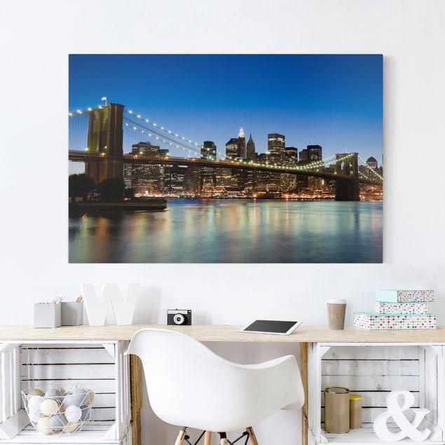 Leinwandbild - Brooklyn Brücke in New York - Quer 3:2