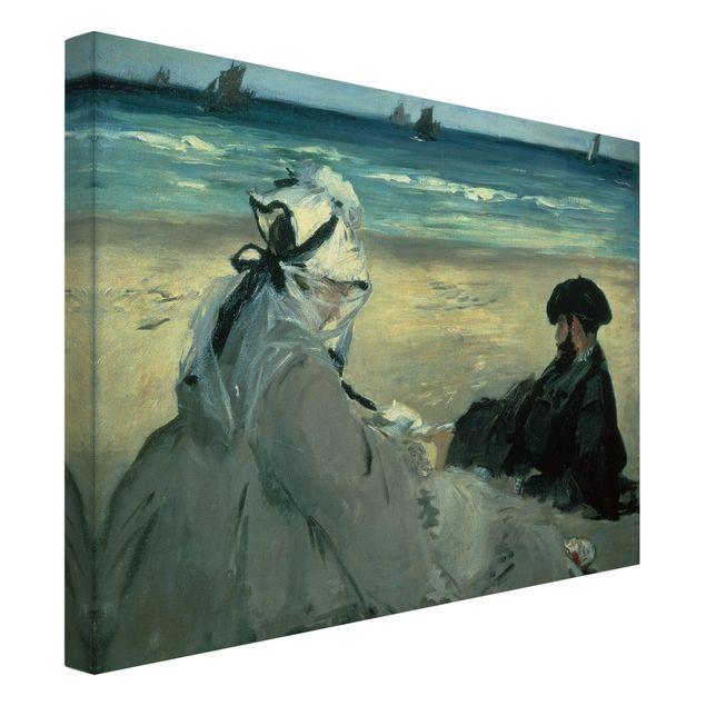 Leinwandbild - Edouard Manet - Am Strand - Quer 4:3