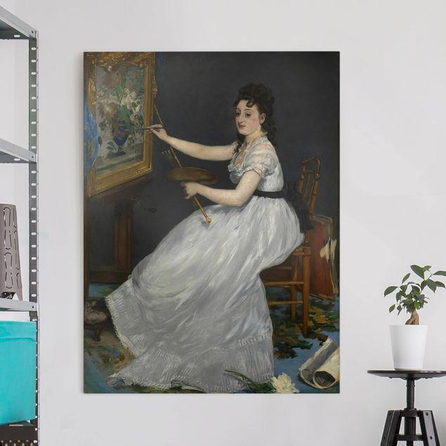 Leinwandbild - Edouard Manet - Eva Gonzalès - Hoch 3:4