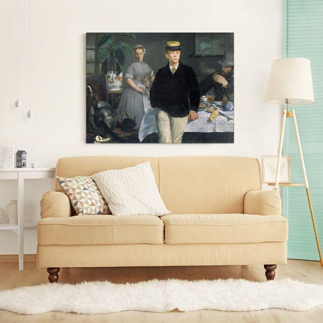 Leinwandbild - Edouard Manet - Frühstück im Atelier - Quer 4:3