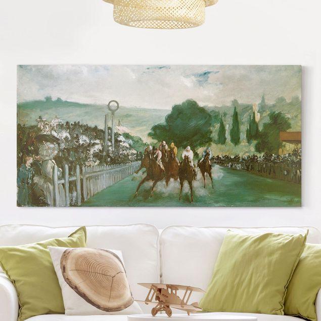 Leinwandbild - Edouard Manet - Pferderennen in Longchamps - Quer 2:1