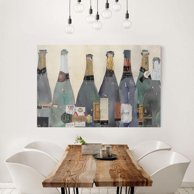 Leinwandbild - Entkorkt - Champagner - Querformat 2:3