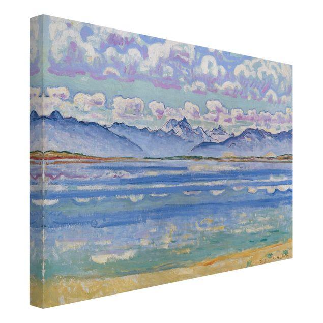 Leinwandbild - Ferdinand Hodler - Weisshorn, von Montana aus gesehen - Quer 4:3
