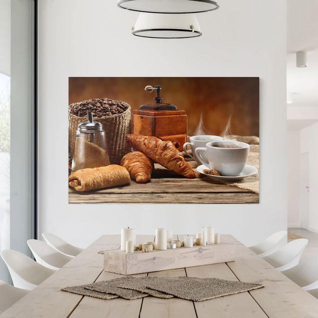 Leinwandbild - Frühstückstisch - Quer 3:2